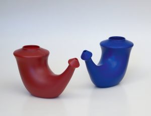 Rhino Horn Red & Blue